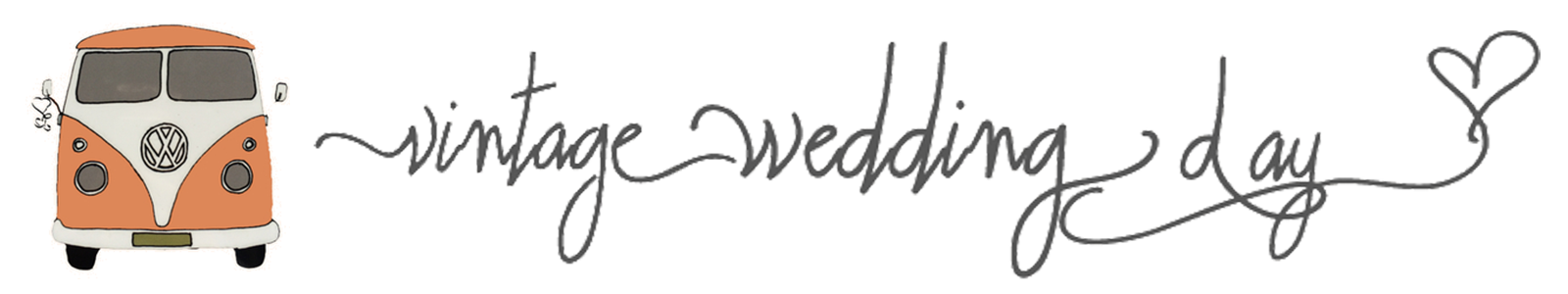 Vintage Wedding Day Logo